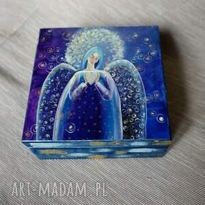 pudełka szkatułka anioł z serduszkiem, prezent, anioł, dom, serce, 4mara, obraz