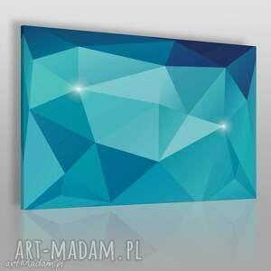 vaku dsgn obraz na płótnie - kryształ błękitny 120x80 cm 62503, kryształ, minerał