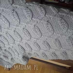 Pled z mieszanki wełny i akrylu - oryginalny wzór, pled, koc, akryl, wełna