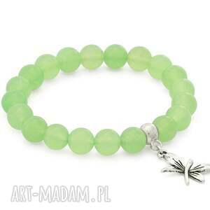 green jade with butterfly pendant - jadeit