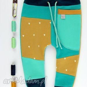 patch pants- eco dresik dziecięcy szmaragd miód, spodenki, ciepłe, niemowlę