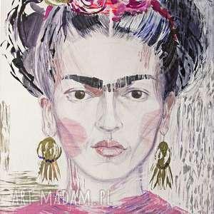 Frida - akryl na płótnie creo frida, akryl, płótno, obraz