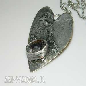 serce z ametystem, wisor, wisior-serce, unikatowa-biżuteria, unikatowe-serce, ametyst