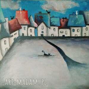 bajkowe miasteczko-obraz akrylowy