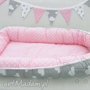 betulli kokon niemowlęcy otulacz chmurki kropki, kokon, niemowlaka, łóżeczko