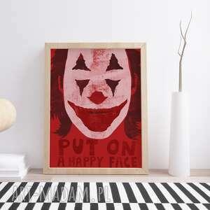 plakaty plakat a2 joker, a2, czerwony, dekoracja, wnętrze