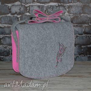 Prezent torba z filcu - listonoszka personalizowana grawerowaną dedykacją, torebka