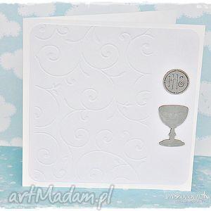kartka komunijna - ascetyczna elagancja - kartka, komunia, święta, pamiątka