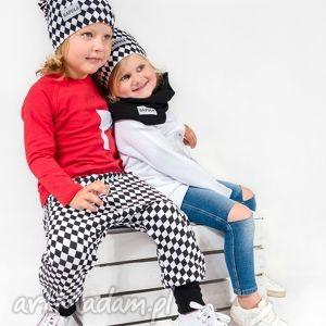 spodnie z obniżonym krokiem romby kieszenią , moda dla dziecka