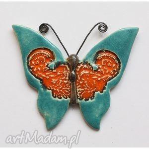 motyl, motyl, ceramika, zawieszka