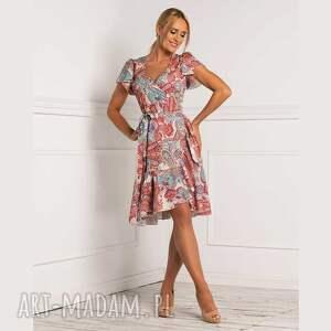 sukienka paola midi medea, midi, rozkloszowana, na lato, wesele