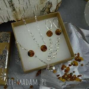 Komplet biżuterii z bursztynem na prezent barbara fedorczyk