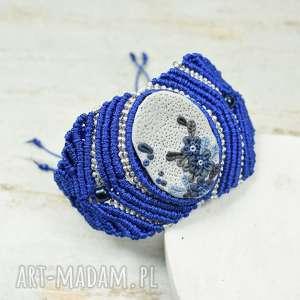 chabrowa bransoletka - makrama, biżuteria chabrawa