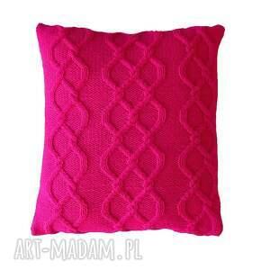 oryginalny prezent, juliannad poduszka amarantowe warkocze, poduszka, handmade