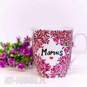 kubek ręcznie malowany magnolia - mamuś, dzień matki, malowany