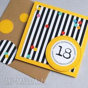 prezenty święta 18-te urodziny :: KARTKA URODZINOWA confetti, osiemnastka