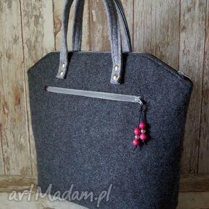hand-made do ręki filcowa torebka do ręki - klasyczna