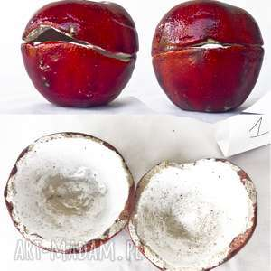 Ceramika unikaty sita cukiernica, jabłko