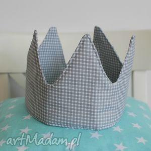 korona by wkml - korona, szara, uszyta, urodziny, księżniczka, prezent