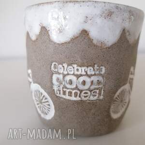 ręcznie robione ceramika kubek rowerem przed siebie
