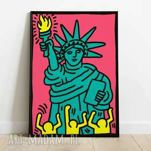 Keith haring, grafika pop art 50x70 plakaty pas de lart
