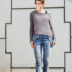 hermina bluzka z dzianiny o luźnym kroju, narzutka oversize, młodzieżowy sweter