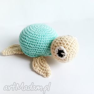 ręcznie wykonane maskotki żółwik leon