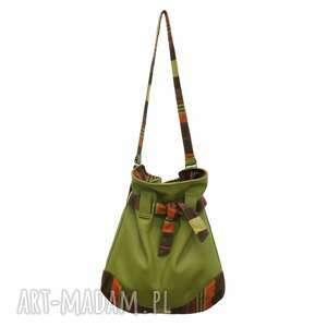 12-0006 zielona torba worek xxl torebka na zakupy sparrow maxi, duże, torebki