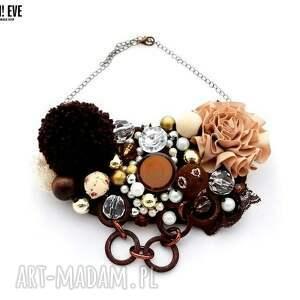 brownie naszyjnik handmade - naszyjnik, handmade, brąz, brązowy