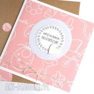 dla małej królewny kartka handmade, narodziny, dziecko, dziewczynka kartki