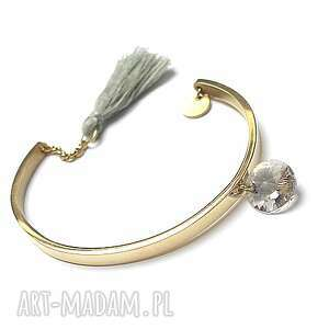 Alloys Collection - gold 3 , stal, szlachetna, pozłacane, chwost, swarovski