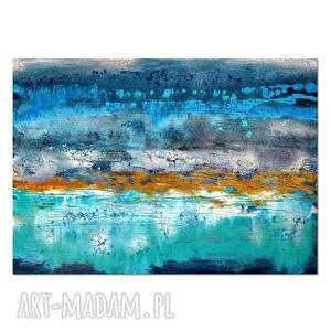 acqua di follia 30, abstrakcja, obraz ręcznie malowany, obraz, ręcznie, malowany
