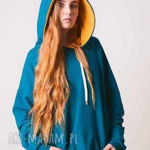 Blouse damska-zieleń morska, moda, desing, wygoda, niestuzinkowe, bawełna,