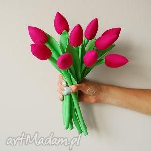 dom tulipany - bukiet bawełnianych kwiatów