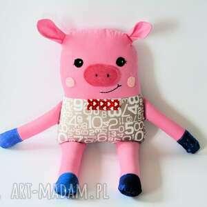 chrumka, świnka z klasą - olek - 38 cm - świnka, chłopczyk, cyferki