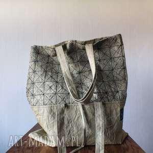 torba transformacja print, prezent, torba, torebka, wegan, ekologiczna, oliwkowa
