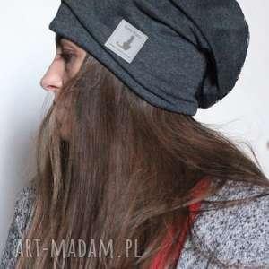 czapka damska dzianinowa jesienna - czapka, bawełna, sport, dzianina, miękka, mama