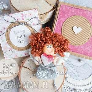 anioł z intencją kartka oraz pudełeczko personalizowana treść, stróż