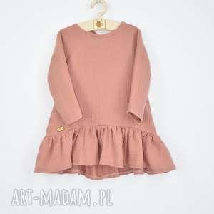 muslinowa sukienka z falbanka, muslinowa, sukienka, zmuslinu, zfalbanka