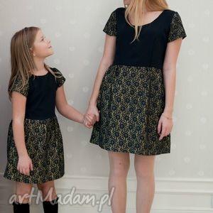 mrugala komplet sukienek lilly ii, dla mamy i córki, mama, córka, sukienki