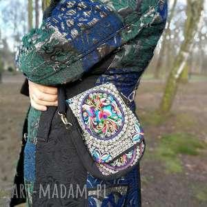 na ramię torebka damska haftowana etniczna orientalna, haft, etno, boho, orient