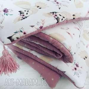 Pościel do łóżeczka bawełna premium muślin, pościel, bawełna, sowy, gwiazdki