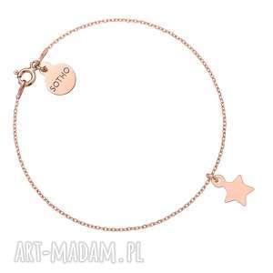 bransoletka z różowego złota z gwiazdką sotho - minimalistyczna