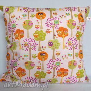 poduszka w sowy piękna ozdoba prezent - poduszka, jasiek, sowy, pokój, prezent