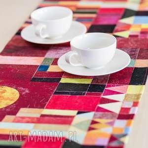 podkładki bieżnik na stół - paul klee zamek i słońce, stół, dekoracje, sztuka