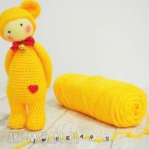 ręczne wykonanie lalki lalka miś lalylala szydełkowa przytulanka