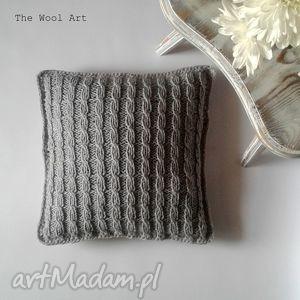 Dziergana poszewka poduszki the wool art dom, poduszka, poszewka