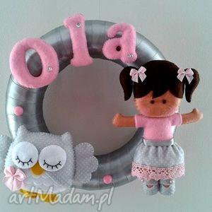 ręcznie zrobione pokoik dziecka personalizowana girlanda z imieniem dziecka
