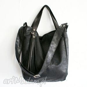 miniks czerń gobi - skóra, zamsz, eko, torba, torebka