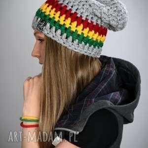 prezent na święta, czapka rasta 01, czapka, rasta, reggae, jamajka, gruba